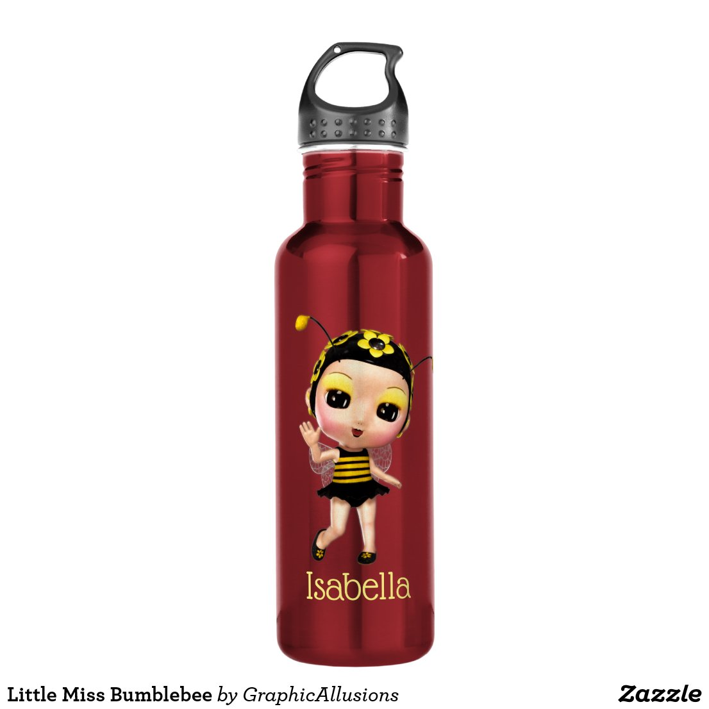 Little Miss Bumblebee Stainless Steel Water Bottle