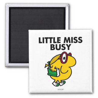 Little Miss Busy Classic Fridge Magnets