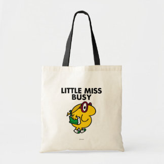 Little Miss Busy | Reading Time Budget Tote Bag