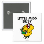 Little Miss Busy | Reading Time 2 Inch Square Button