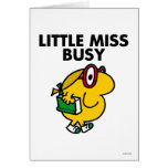 Little Miss Busy   Reading Time Greeting Card