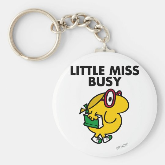 Little Miss Busy | Reading Time Keychain