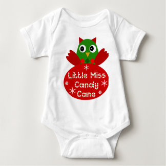 Little Miss Candy Cane Christmas Design Baby Bodysuit
