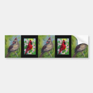 Little Miss Cardinal aceo Bumper Sticker