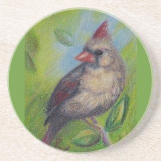 Little Miss Cardinal Coaster
