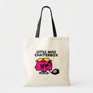 Little Miss Chatterbox & Black Telephone Budget Tote Bag