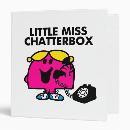 Little Miss Chatterbox & Black Telephone Binder