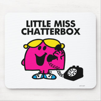 Little Miss Chatterbox & Black Telephone Mouse Pad
