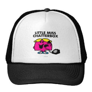 Little Miss Chatterbox & Black Telephone Trucker Hat
