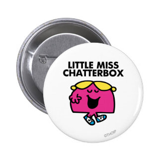 Little Miss Chatterbox Classic 1 Pinback Buttons