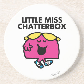 Little Miss Chatterbox Classic 1 Drink Coaster