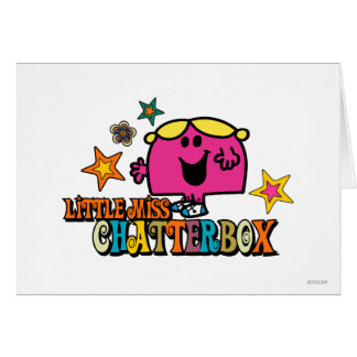 Little Miss Chatterbox & Colorful Stars Card