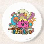 Little Miss Chatterbox & Colorful Swirls Coaster