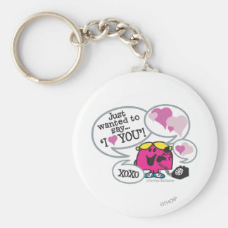 Little Miss Chatterbox Says I Love You Keychain