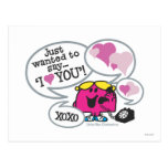 Little Miss Chatterbox Says I Love You Postcard
