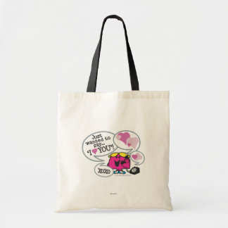 Little Miss Chatterbox Says I Love You Tote Bag