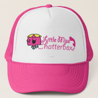 Little Miss Chatterbox | Telephone Cord Lettering Trucker Hat