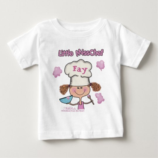 Little Miss Chef Personalize Baby T-Shirt