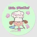 Little Miss Chef Personalize Classic Round Sticker