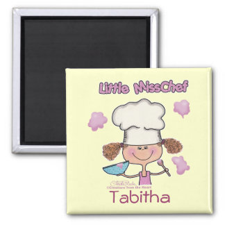 Little Miss Chef Personalize Magnet