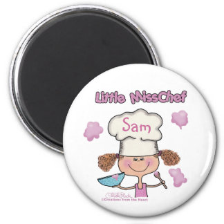 Little Miss Chef Personalize Magnets