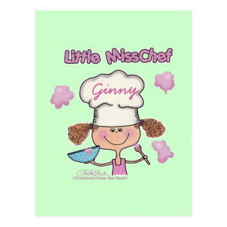 Little Miss Chef Personalize Postcard