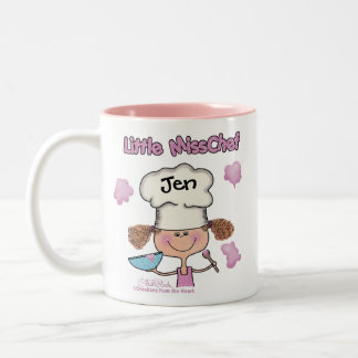 Little Miss Chef Personalize Two-Tone Coffee Mug