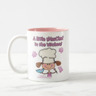 Little Miss Chef Two-Tone Coffee Mug