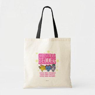 Little Miss Christmas Belles Budget Tote Bag