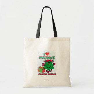 Little Miss Christmas | I Love Holidays Budget Tote Bag