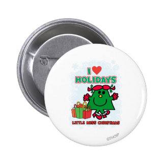 Little Miss Christmas | I Love Holidays Button