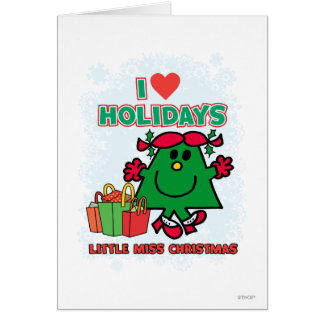 Little Miss Christmas | I Love Holidays Card