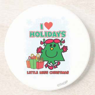 Little Miss Christmas | I Love Holidays Coaster