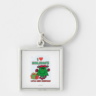 Little Miss Christmas | I Love Holidays Keychain