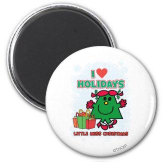 Little Miss Christmas | I Love Holidays Magnet