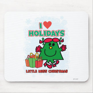 Little Miss Christmas | I Love Holidays Mouse Pad