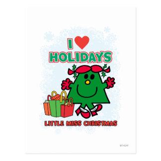 Little Miss Christmas | I Love Holidays Postcard