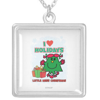 Little Miss Christmas | I Love Holidays Silver Plated Necklace