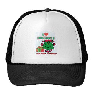 Little Miss Christmas | I Love Holidays Trucker Hat