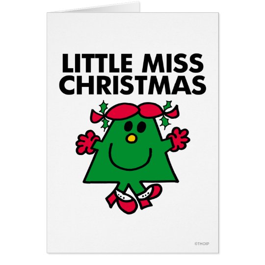 Little Miss Christmas Smile Card