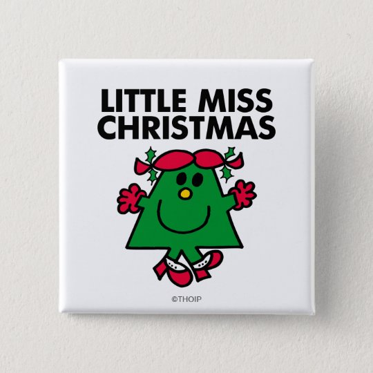 Little Miss Christmas Smile Pinback Button