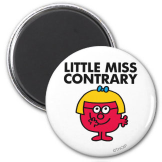 Little Miss Contrary 2 Inch Round Magnet