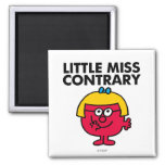 Little Miss Contrary 2 Inch Square Magnet