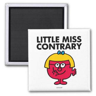 Little Miss Contrary Classic Fridge Magnet