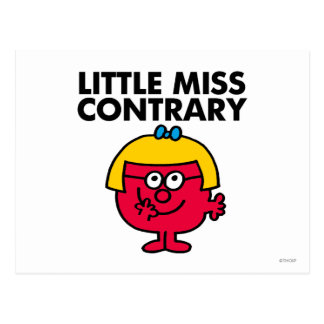 Little Miss Contrary Postcard