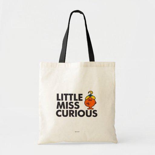 Little Miss Curious | Black Lettering Budget Tote Bag