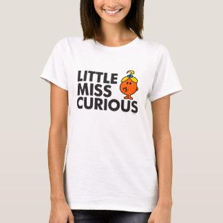 Little Miss Curious | Black Lettering T-Shirt