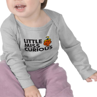 Little Miss Curious | Black Lettering Tee Shirts
