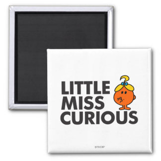 Little Miss Curious Classic Magnets