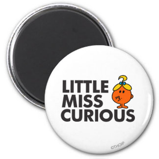 Little Miss Curious Classic Fridge Magnets